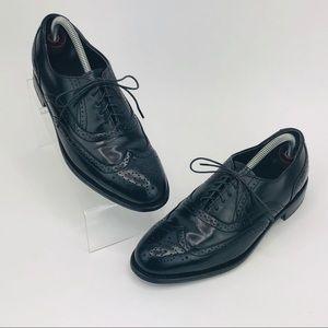 Dexter USA Full Brogue Black Leather Wingtips